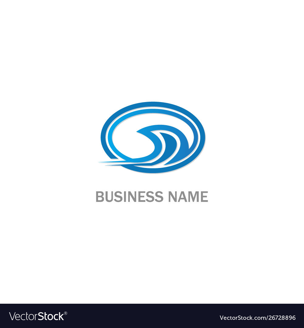 Wave water sign company logo