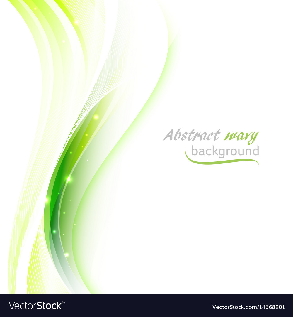 abstract background with transparent green wavy vector image vectorstock