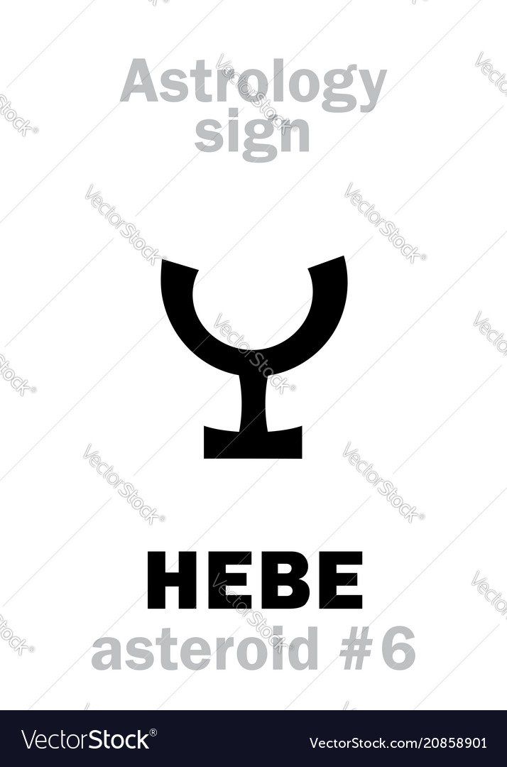 Astrology asteroid hebe