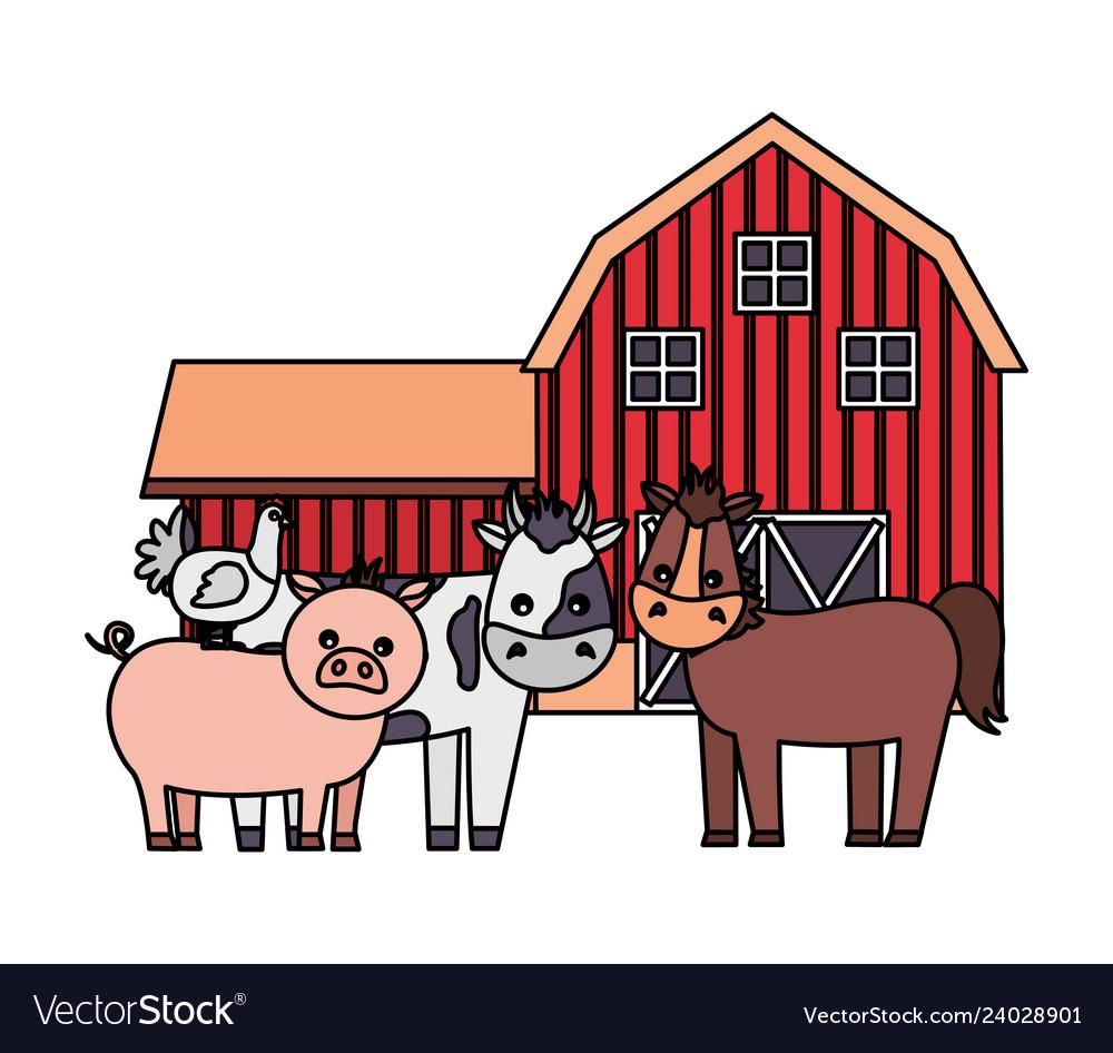 Barn animals farm