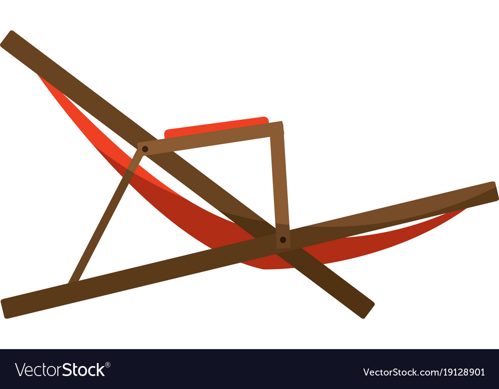 Isolated Sunchair Design Vector Image