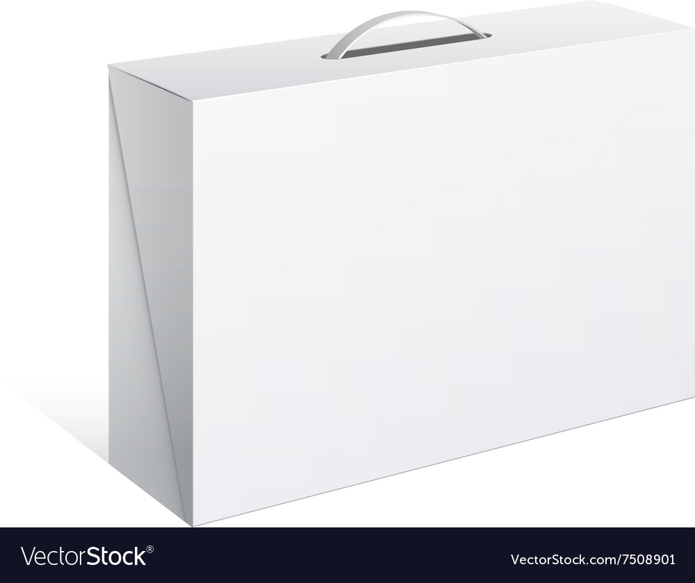 Package Cardboard Box with a handle vector image