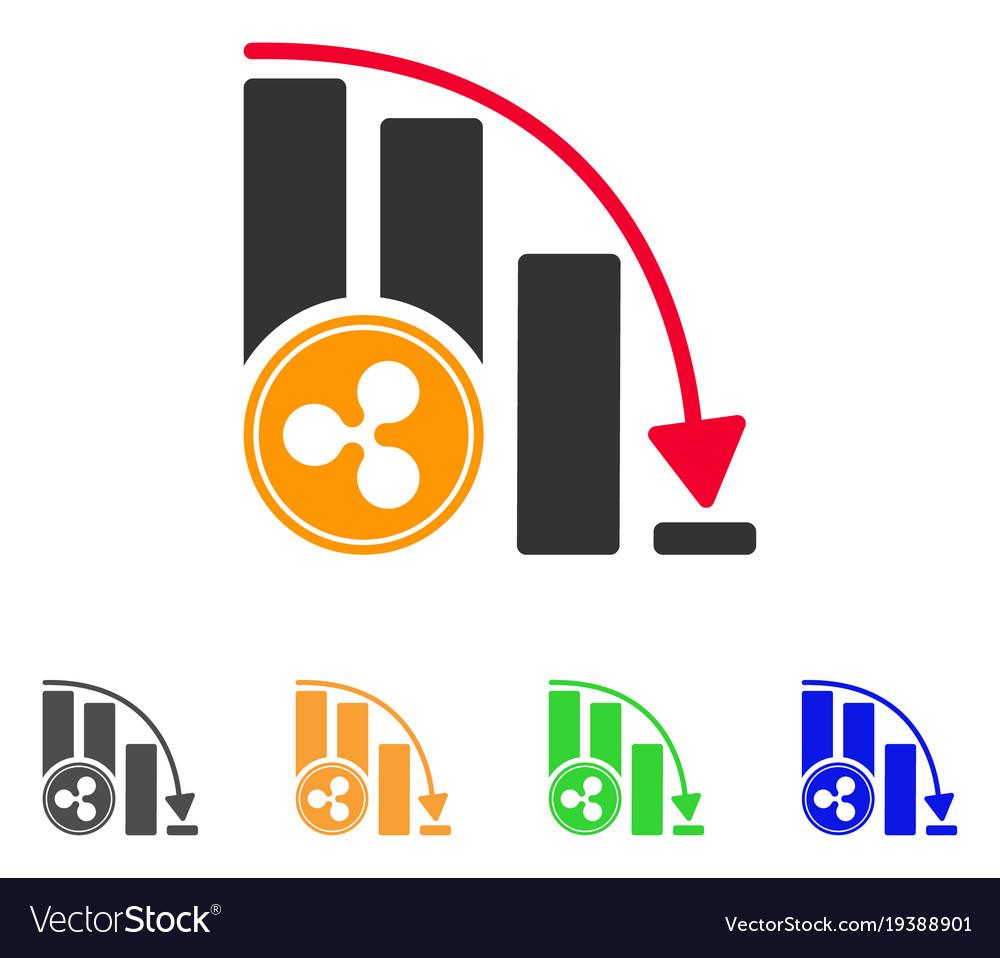 Ripple falling acceleration chart icon