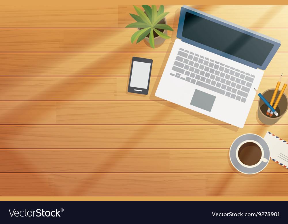 Top View Of Office Desk | Desk Design Ideas