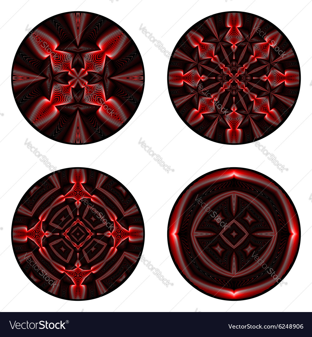 A set of design circle elements vector image