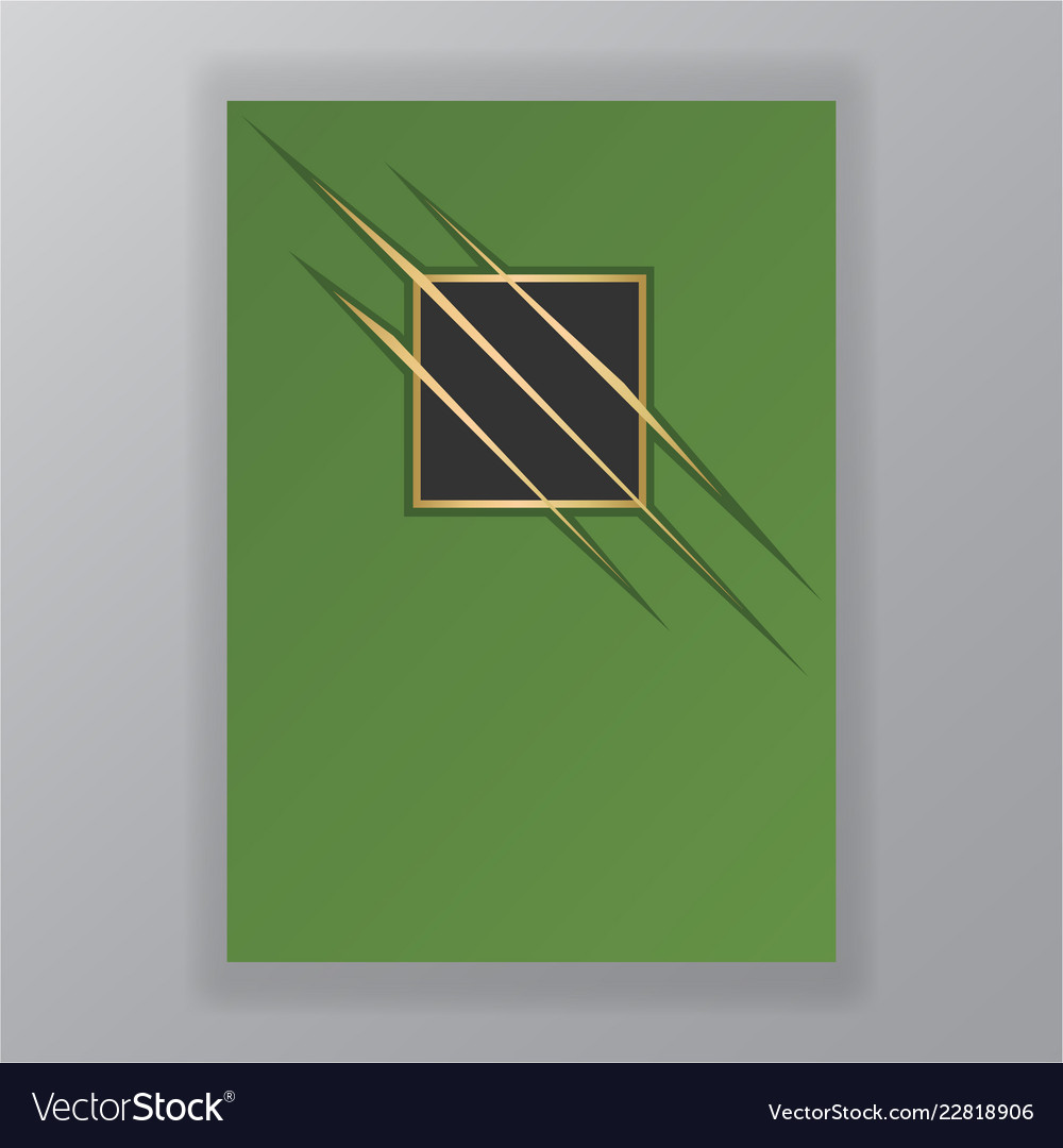 Abstract green geometric page template