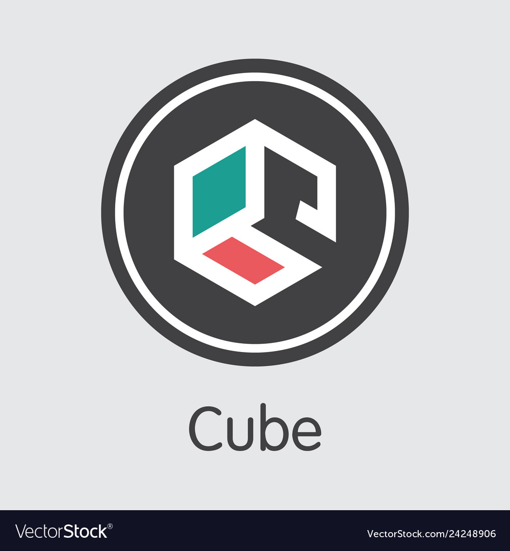 Auto - cube the icon of crypto currency or market