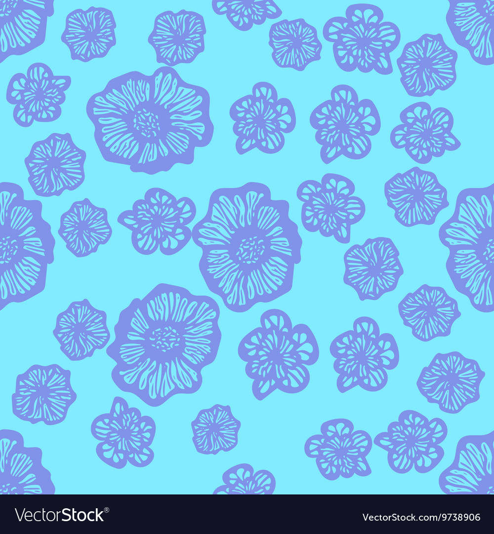 Blue and purple seamless flower pattern royalty free vector blue and purple seamless flower pattern vector image izmirmasajfo