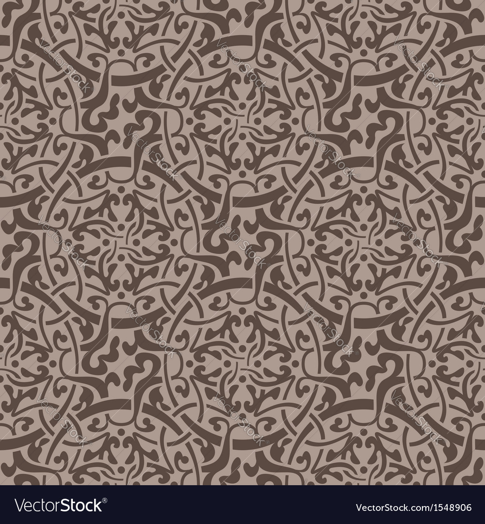 Brown Floral Seamless Wallpaper Pattern Royalty Free Vector