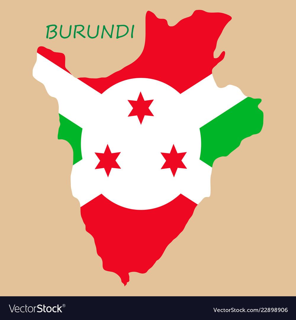 Flag map of burundi