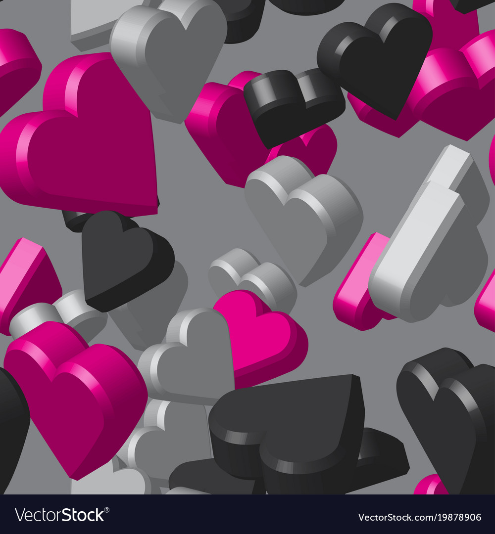 Black And Pink Hearts Remar