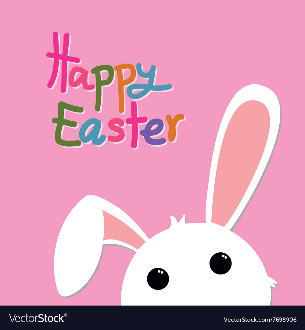 Happy easter and bunny