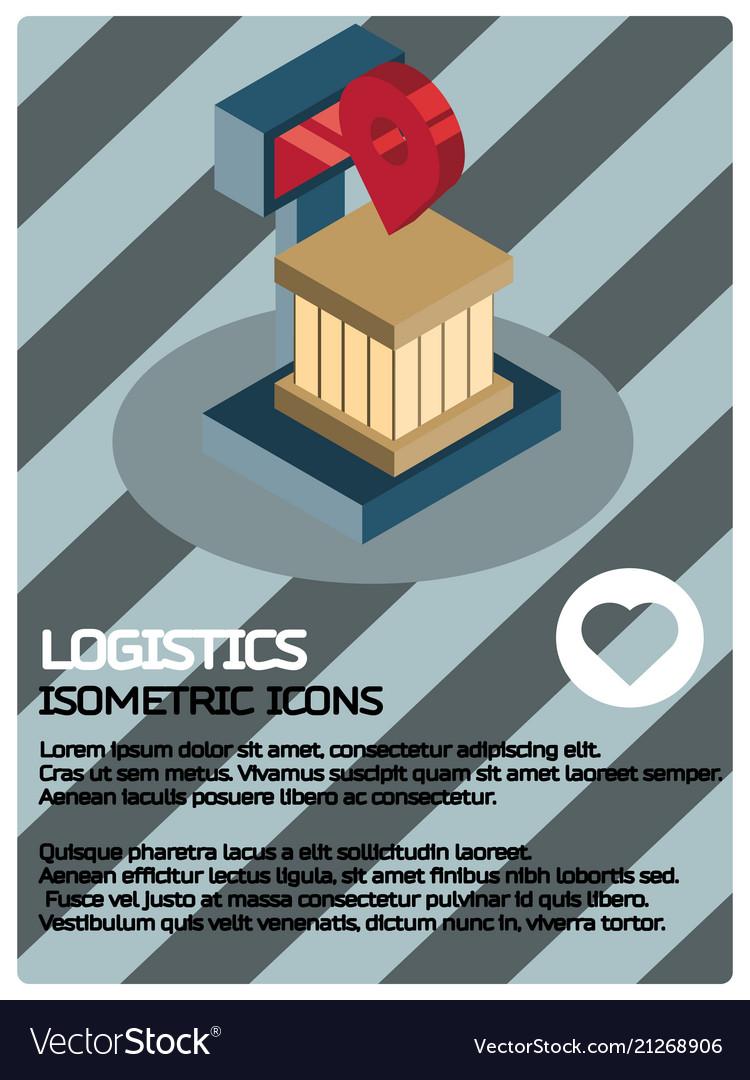 Logistics color isometric poster