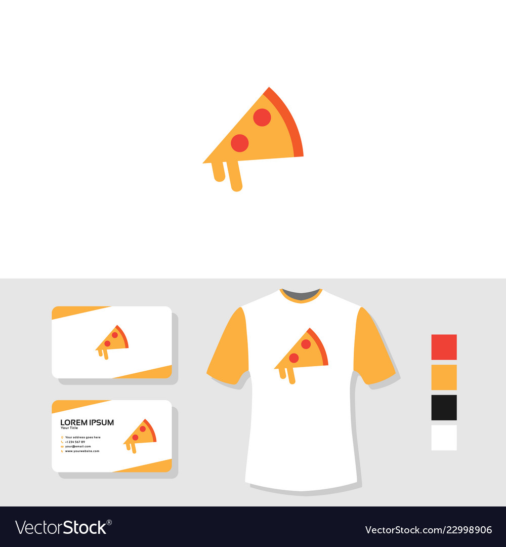 Logo design with business card and t shirt mockup