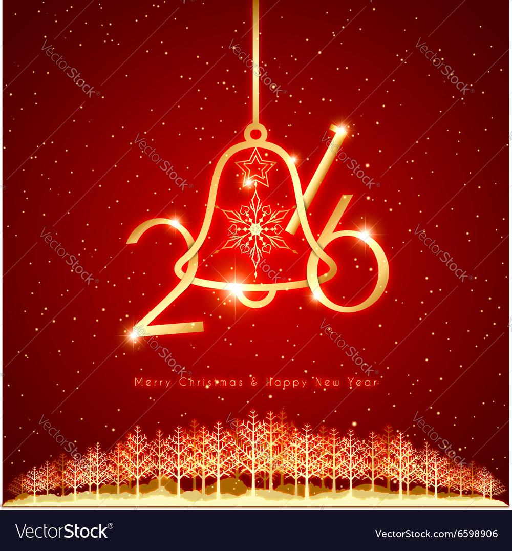 New Year Christmas Holidays Celebration Background vector image