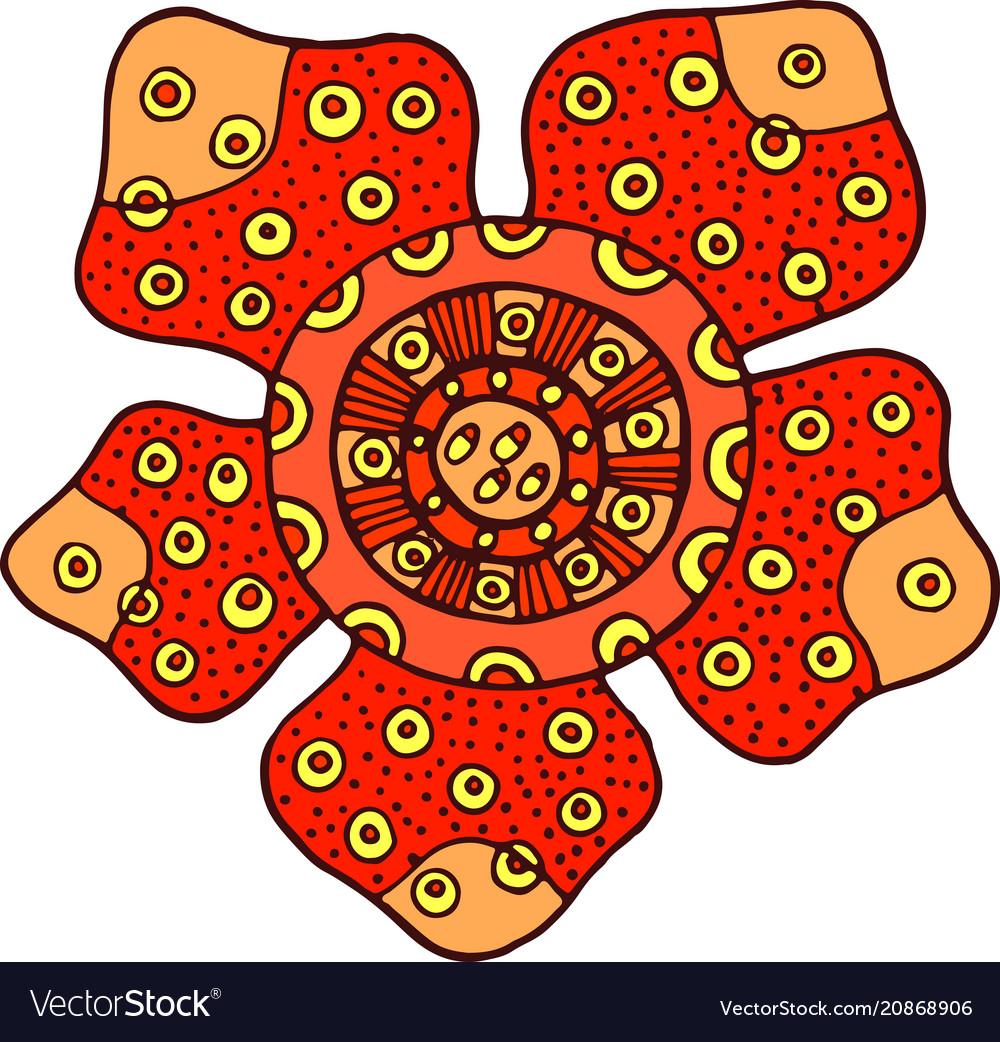 Rafflesia flower isolated element cartoon color Vector Image