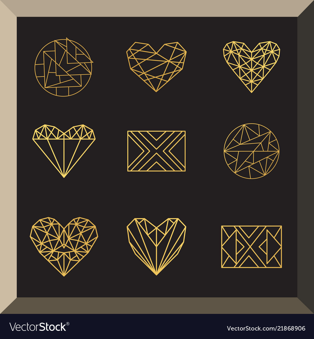Set geometric icons
