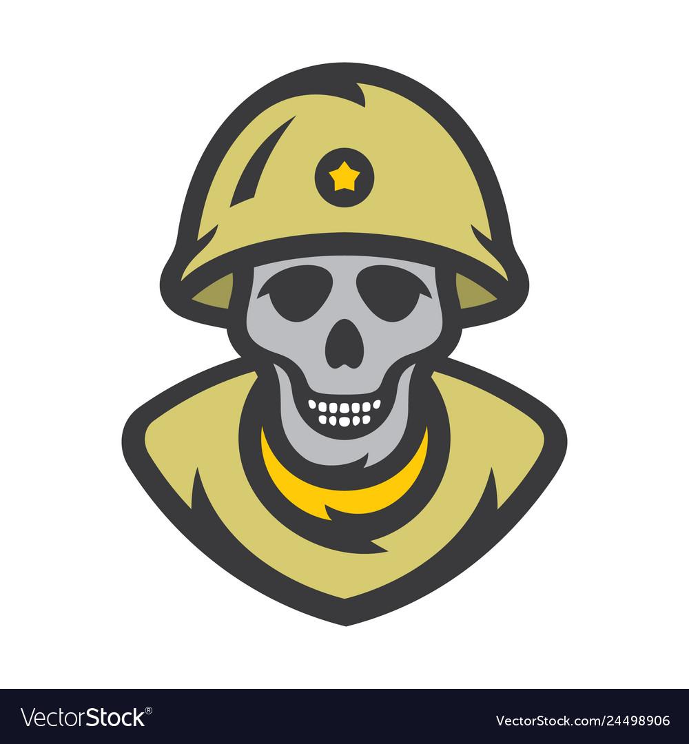 Skull soldier cartoon