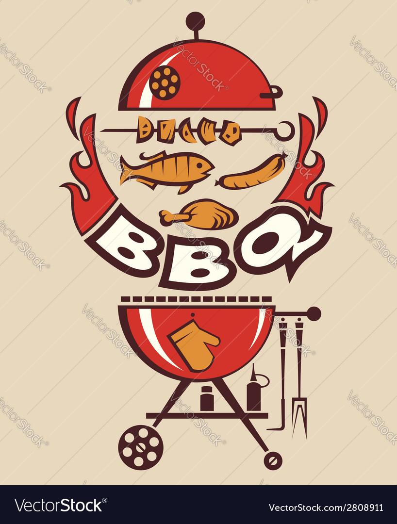 Barbecue party invitation vector image