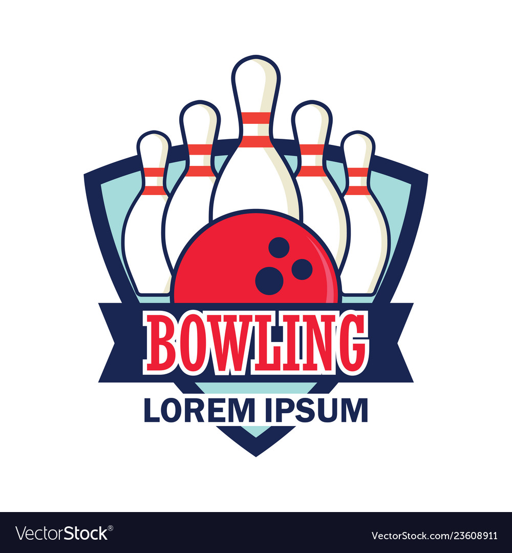 Bowling logo with text space for your slogan tag