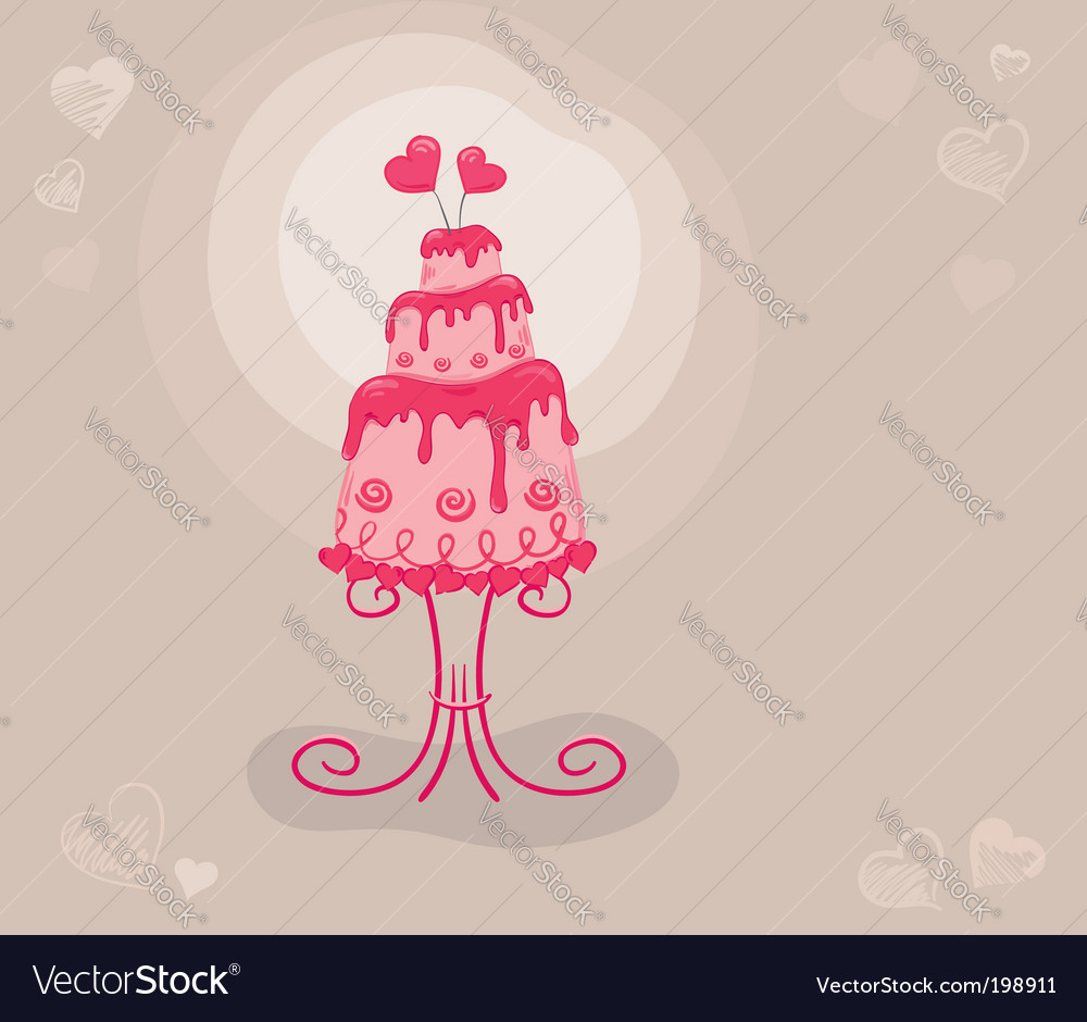 Cake lovers vector image