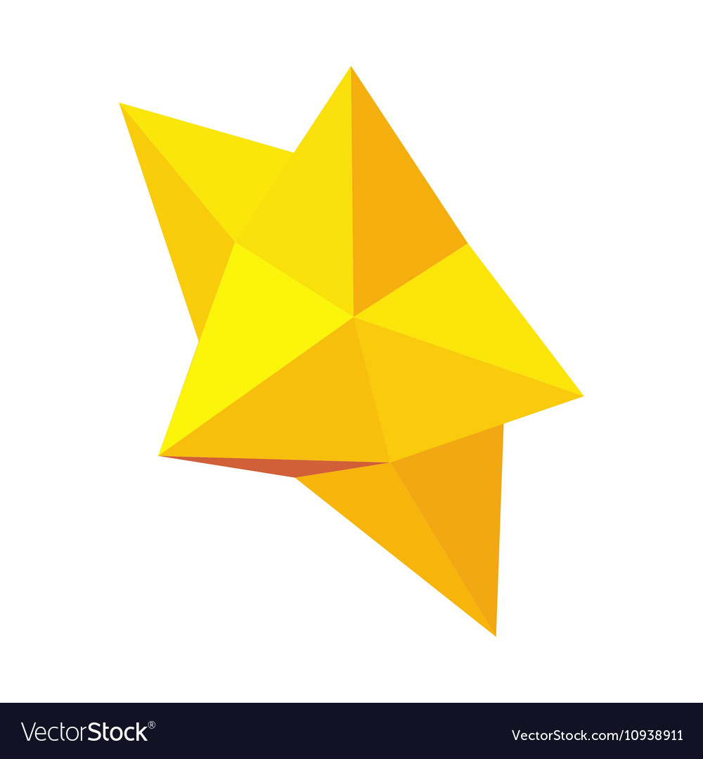 Christmas star icon isometric 3d style