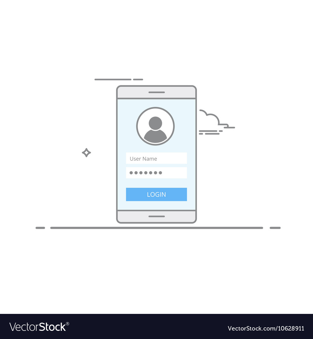 Concept interface design login screen on your
