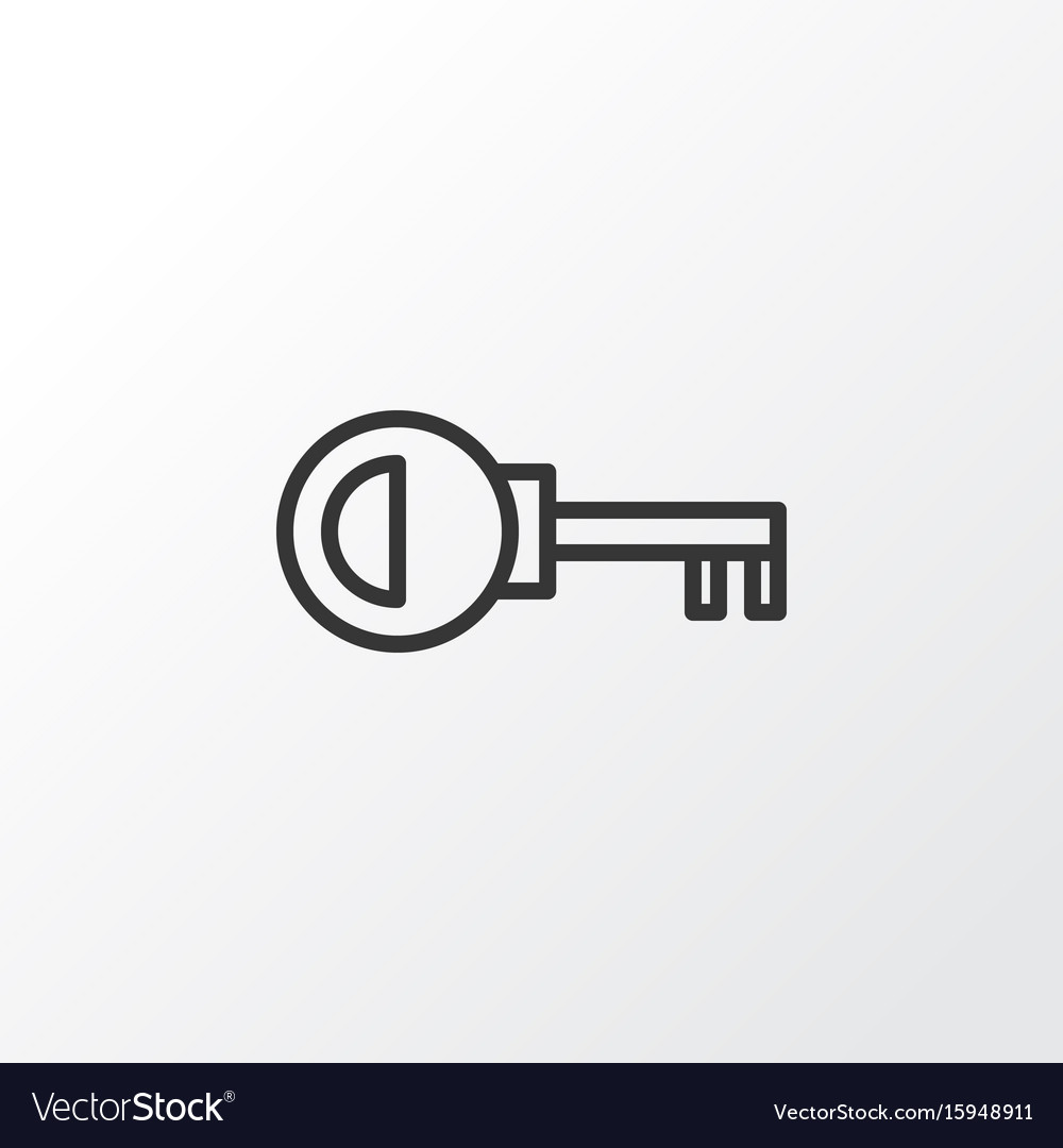 sc 1 st  VectorStock & Door key icon symbol premium quality isolated Vector Image