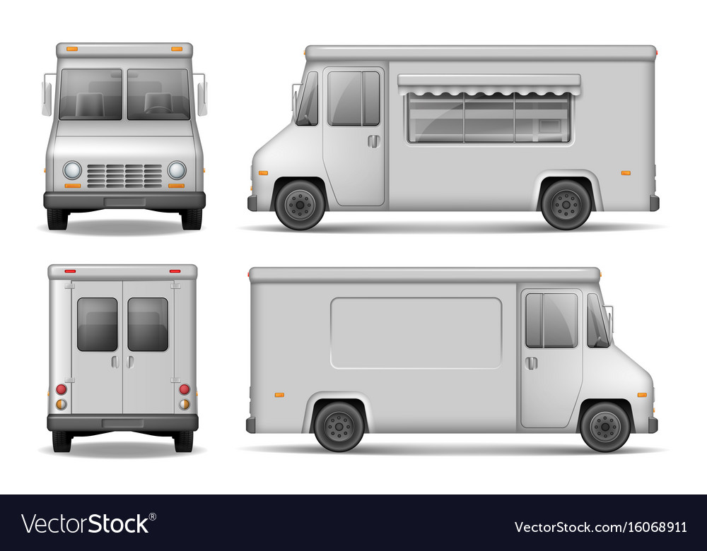 Food truck template for car advertising