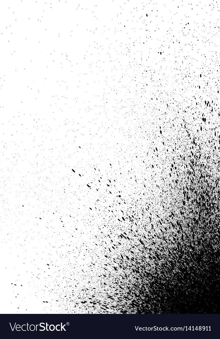 Graffiti spray paint detail in black on white