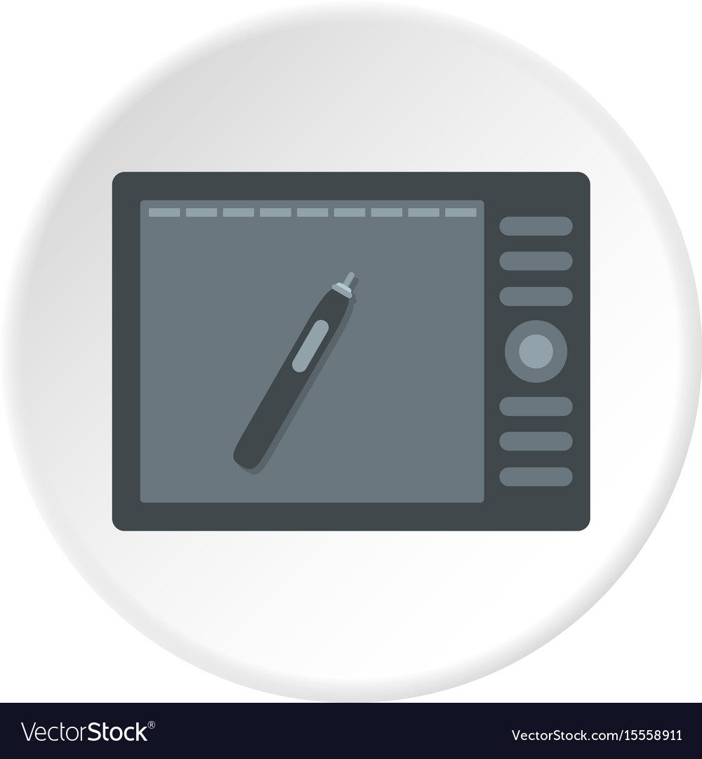 Graphics tablet icon circle vector image