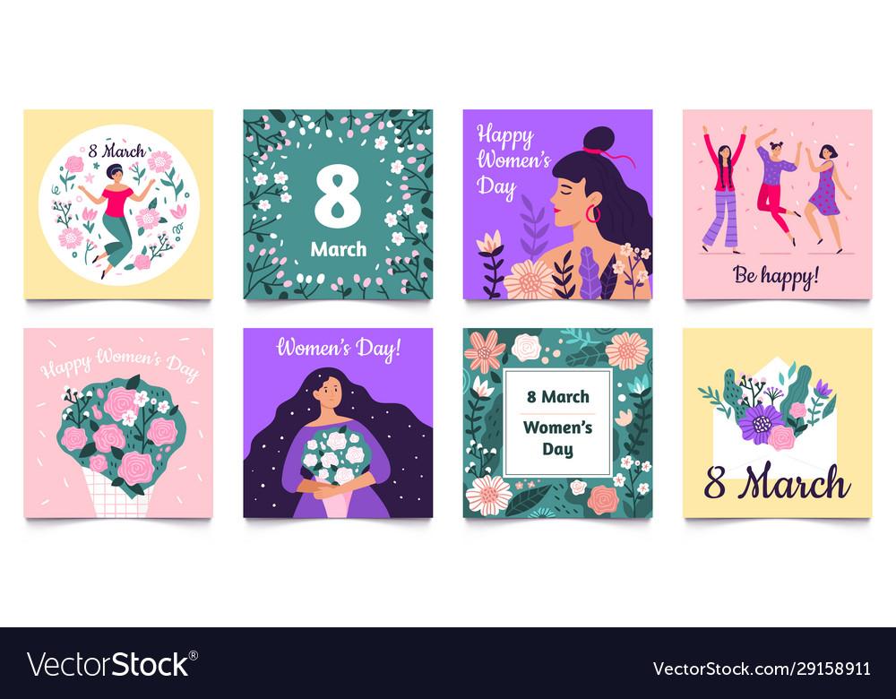 International womens day card happy women day 8