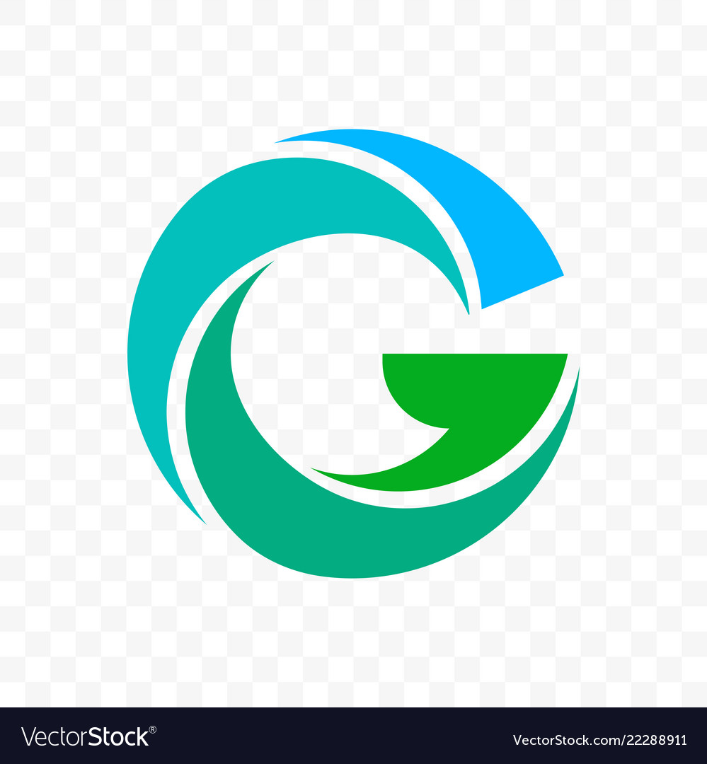 Letter g blue and green icon