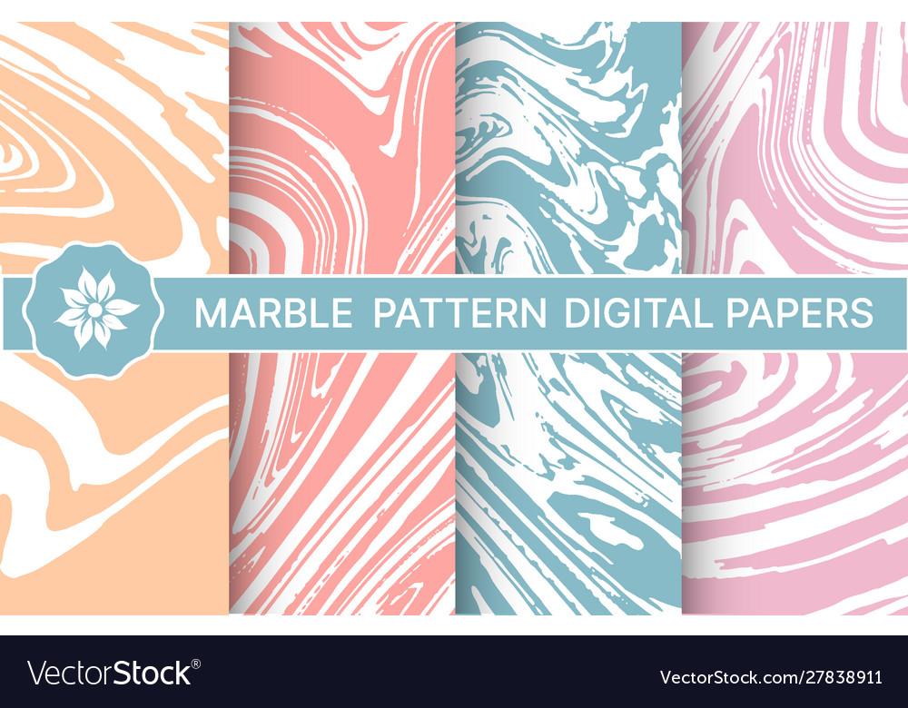 Set marble purple patterns for design