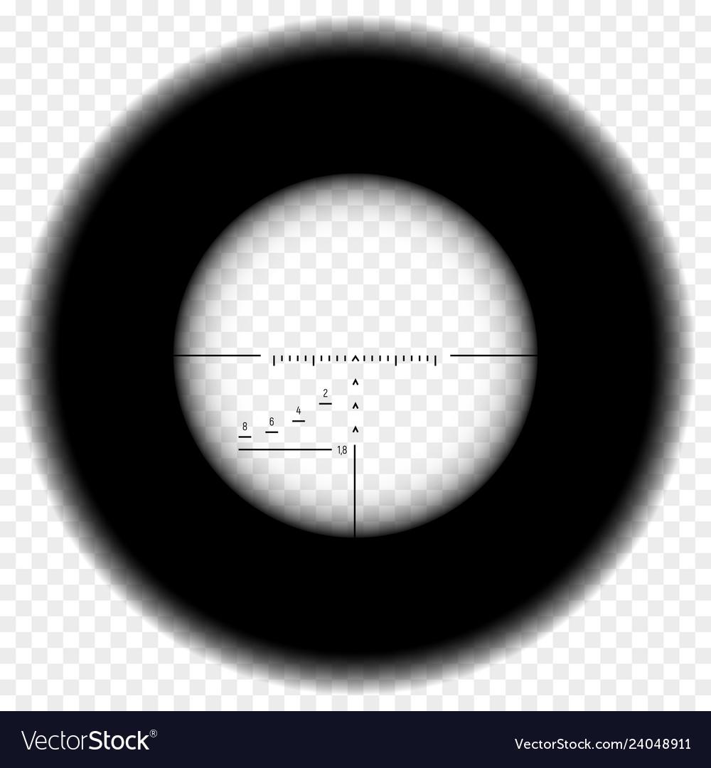 Sniper rifle scope view