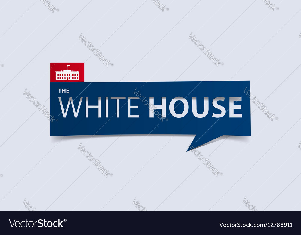 The White House banner isolated