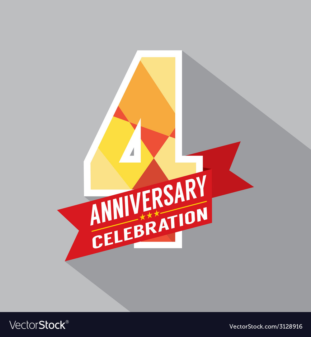 4th Years Anniversary Celebration Design