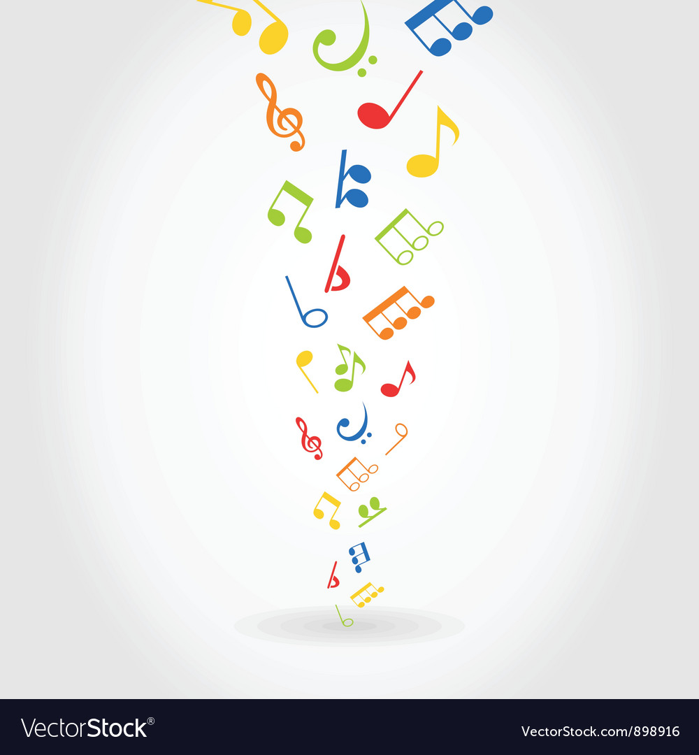 Abstract music vector image