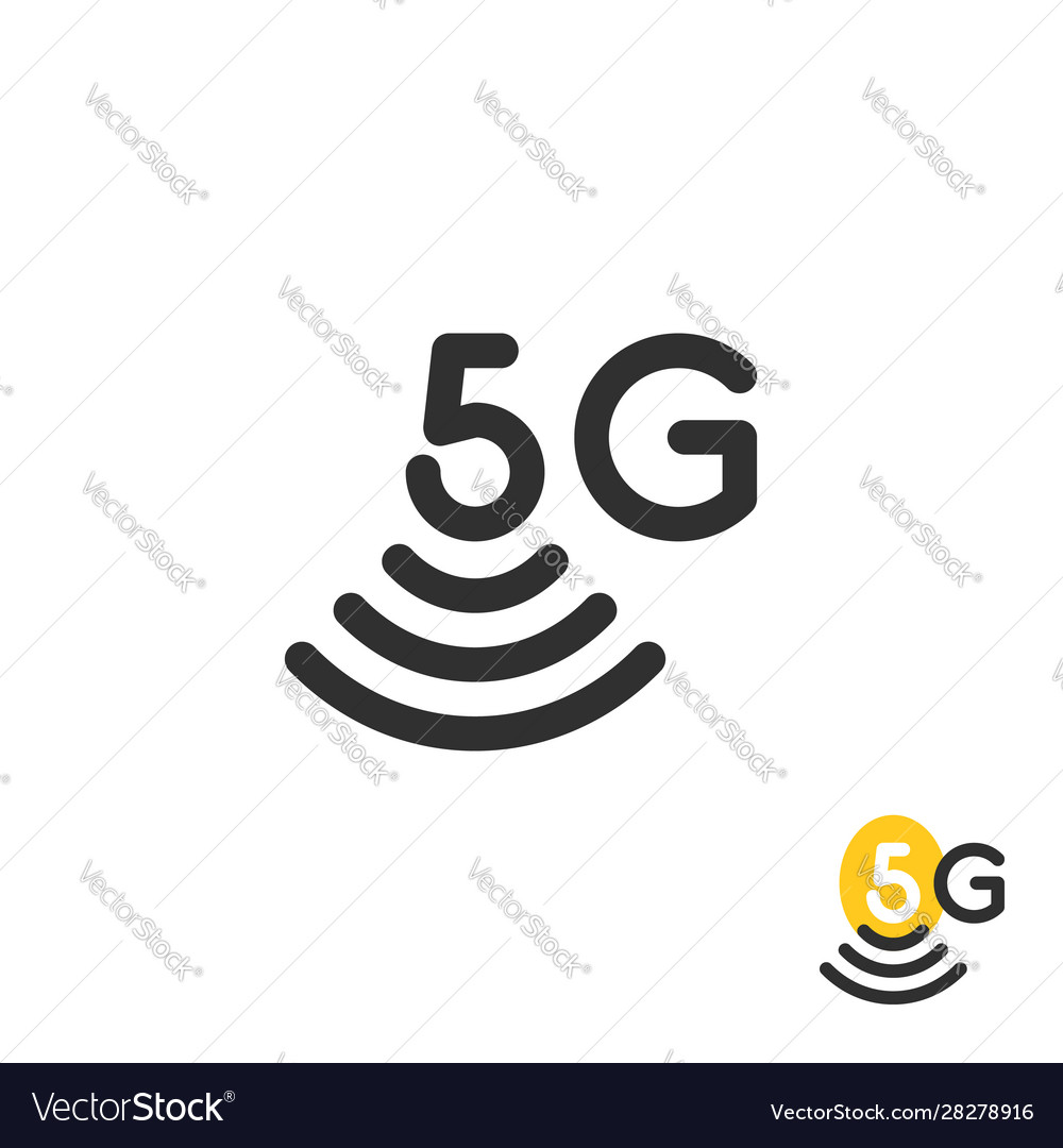 Black simple 5g wireless logo