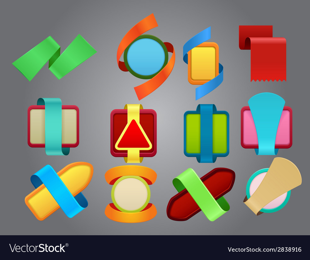 Colorful emblems vector image