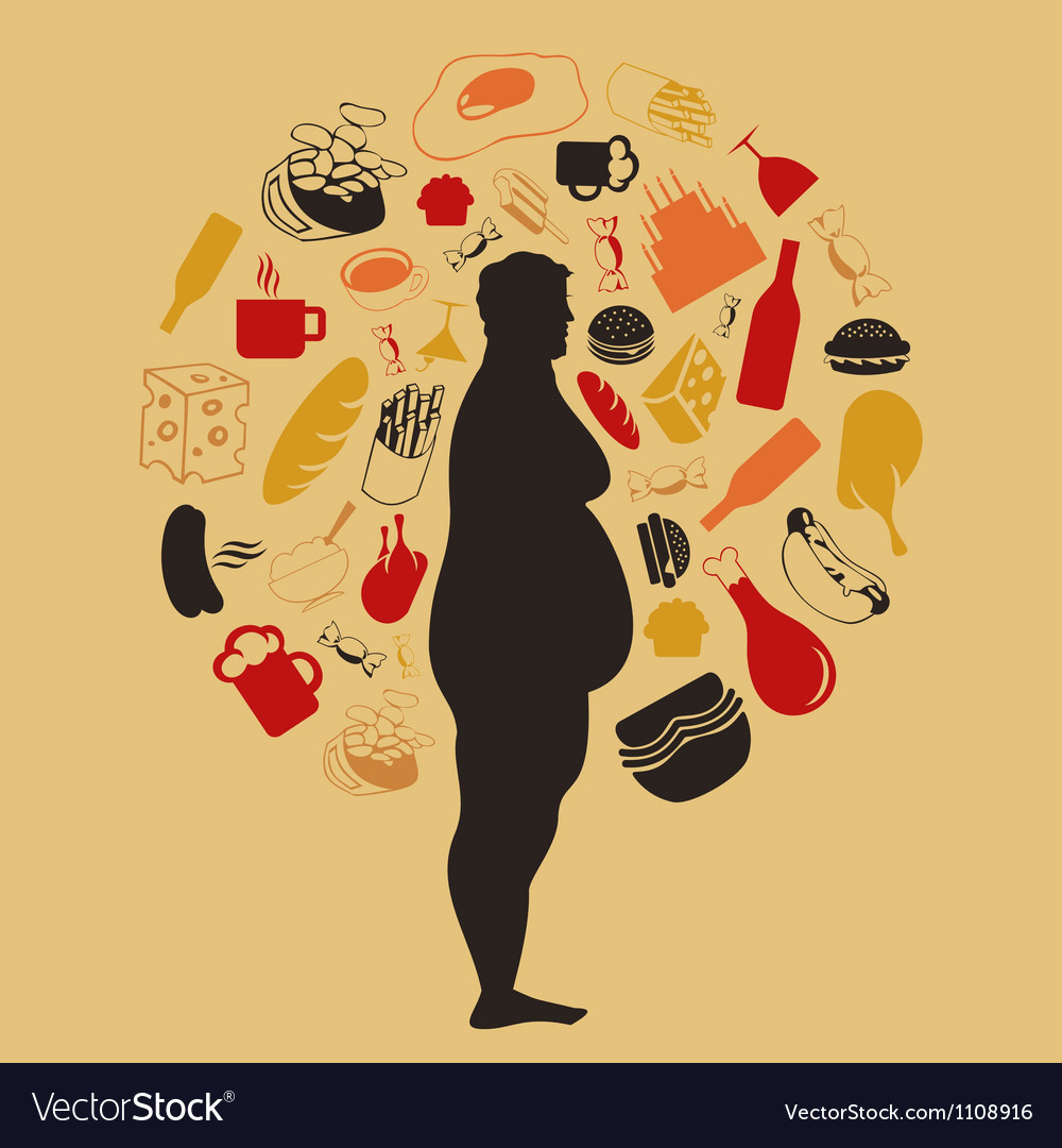 Fat man2 vector image
