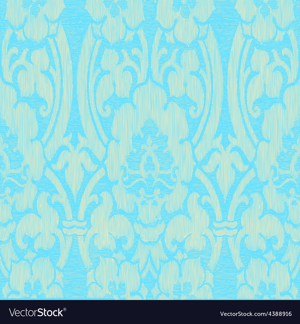 Seamless light abstract striped floral pattern