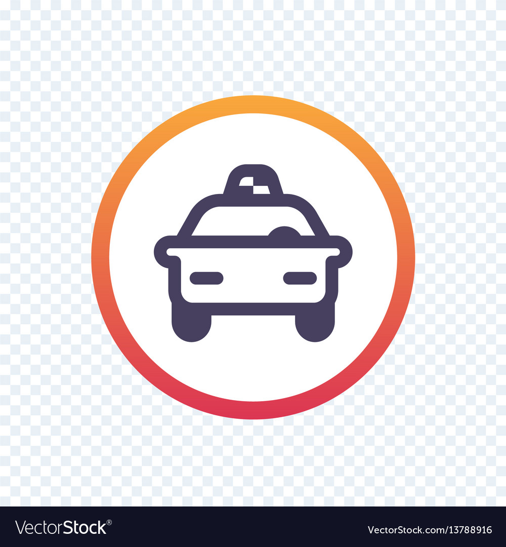 Taxi cab line icon