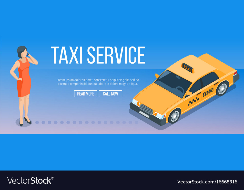 Taxi service banner