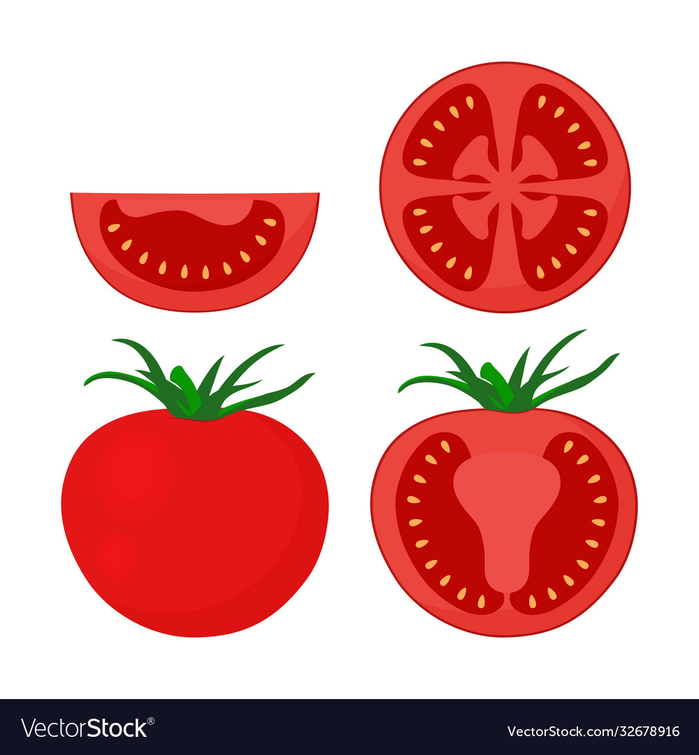 Tomato set isolated on white