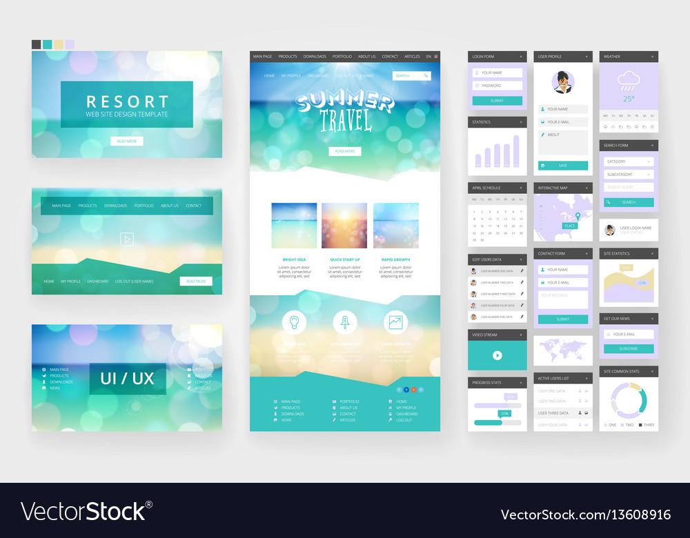 Tropical summer web design template