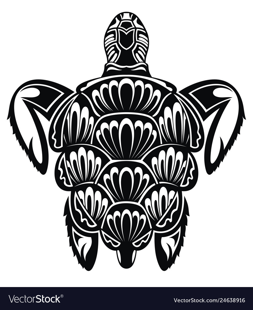 Turtle Tattoo Royalty Free Vector Image Vectorstock