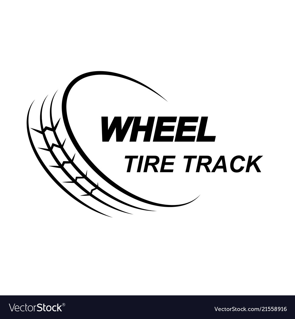 Wheel tire track logo