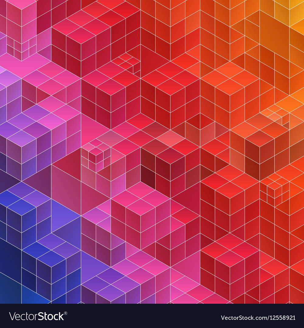 Abstract geometric background red and blue