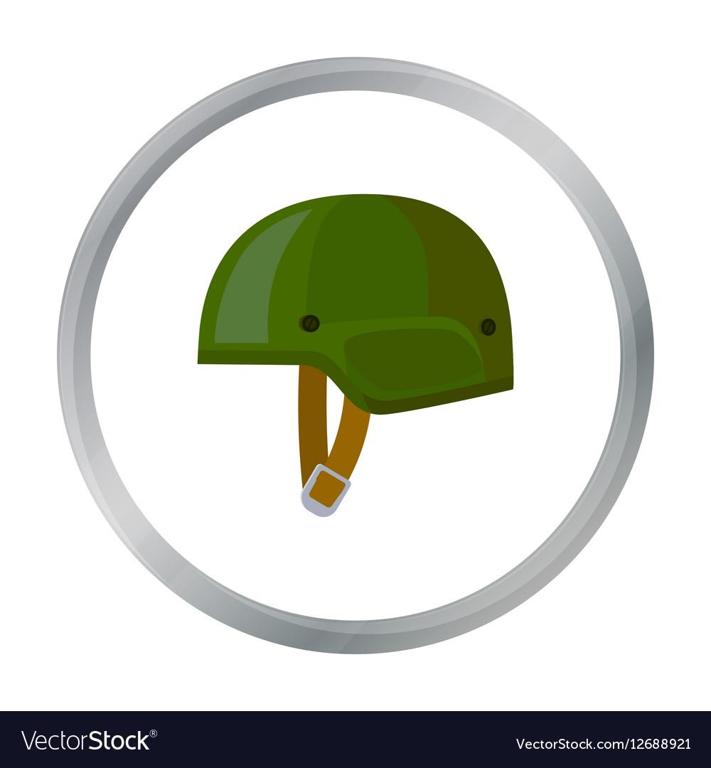 army helmet icon in cartoon style isolated on vector image rh vectorstock com Cartoon Army Boots Cartoon Heart